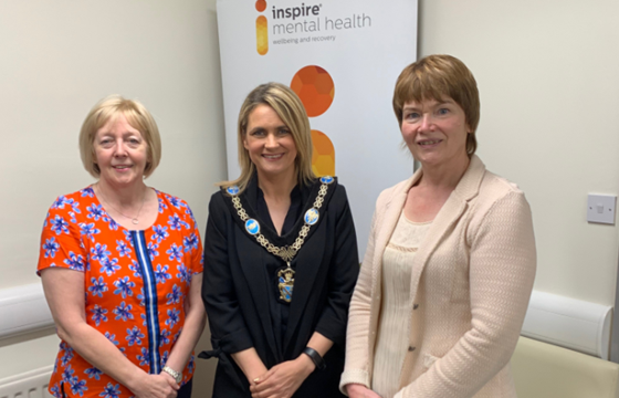 Lord Mayor for Armagh City, Banbridge & Craigavon Borough Council visits Inspire Mental Health Community Wellbeing Service in Armagh