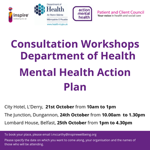 Consultation Workshops - Mental Health Action Plan
